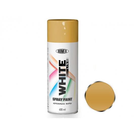 Аэрозоль металлик Domex White line Светло-золотой 136 - интернет-магазин tricolor.com.ua