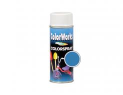 Аэрозольная декоративная универсальная краска ColorWorks светло голубая RAL 5015 - интернет-магазин tricolor.com.ua