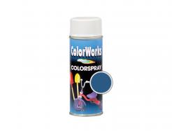 Аэрозольная декоративная универсальная краска ColorWorks темно-голубая RAL 5010