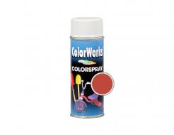 Аэрозольная декоративная универсальная краска ColorWorks красно-оранжевая RAL 2002